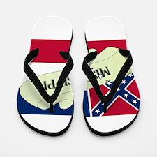 Mississippi Scroll Flip Flops