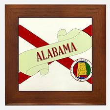 Alabama Scroll Framed Tile