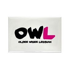 OWL Rectangle Magnet