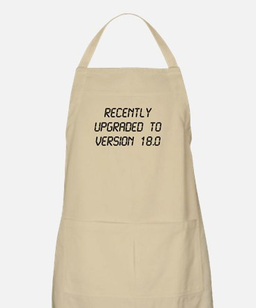 Recently Upgraded Funny 18th Birthday Apron