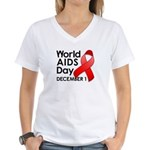 World AIDS Day Women's V-Neck T-Shirt