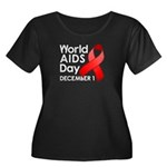 World AIDS Day Women's Plus Size Scoop Neck Dark T