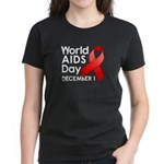 World AIDS Day Women's Dark T-Shirt
