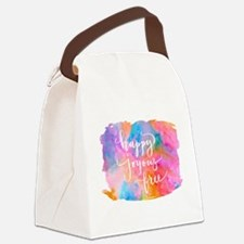 Happy Joyous Free Canvas Lunch Bag