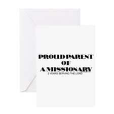 PROUD PARENT OF A MISSIONARY Greeting Card