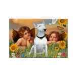 Cherubs / Bull Terrier Rectangle Magnet