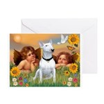 Cherubs / Bull Terrier Greeting Card