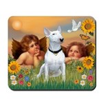 Cherubs / Bull Terrier Mousepad