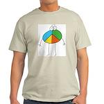Peace Cartoon Ash Grey T-Shirt