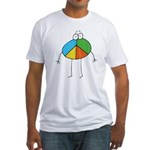 Peace Cartoon Fitted T-Shirt