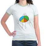 Peace Cartoon Jr. Ringer T-Shirt