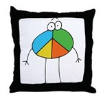 Peace Cartoon Throw Pillow