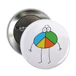 Peace Cartoon Button
