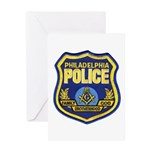 Philly PD Masons Greeting Card