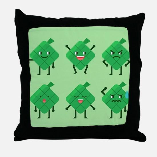 kawaii Ketupat Throw Pillow
