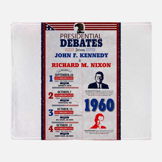 1960 Debate Throw Blanket