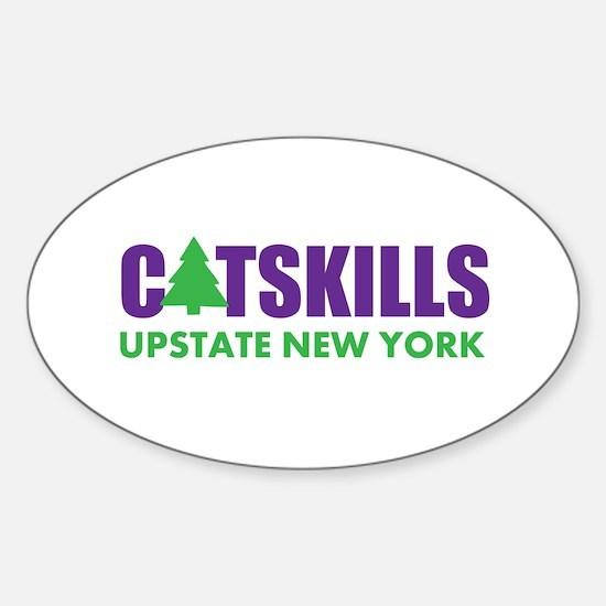 CATSKILLS - UPSTATE NEW YORK Sticker (Oval)