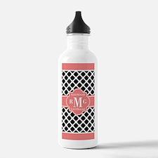 Preppy Chic Personaliz Water Bottle