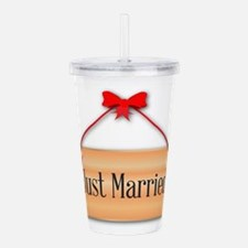 Just Married Sign Acrylic Double-wall Tumbler