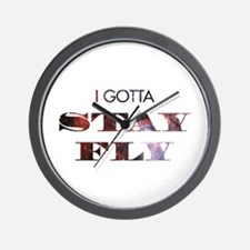 I gotta stay fly Wall Clock