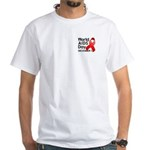 World AIDS Day White T-Shirt