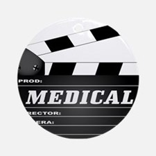 Medical Clapperboard Round Ornament