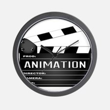 Animation Clapperboard Wall Clock