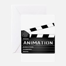 Animation Clapperboard Greeting Cards