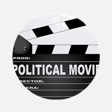 Political Movie Clapperboard Round Ornament