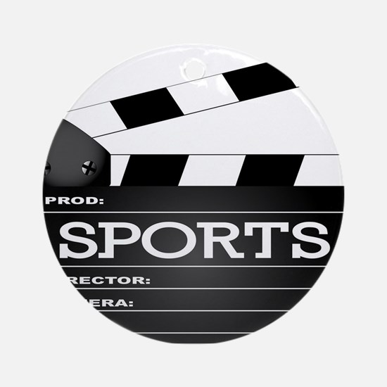 Sports Clapperboard Round Ornament