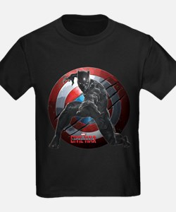 Black Panther Scratched Shield T