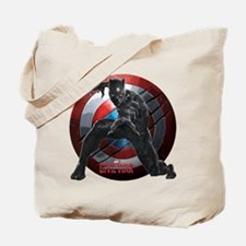 Black Panther Scratched Shield Tote Bag
