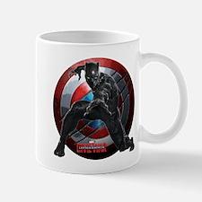 Black Panther Scratched Shield Mug