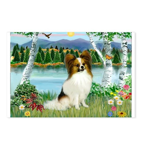 Birches / Papillon Postcards (Package of 8)
