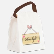 Funny Satin Canvas Lunch Bag