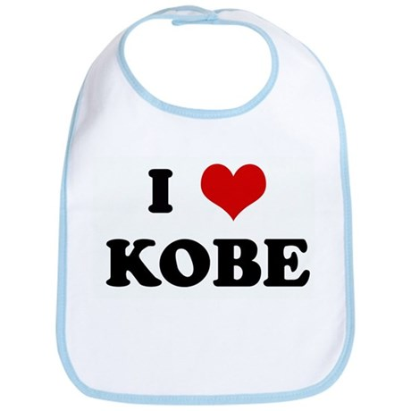 I Love KOBE Bib