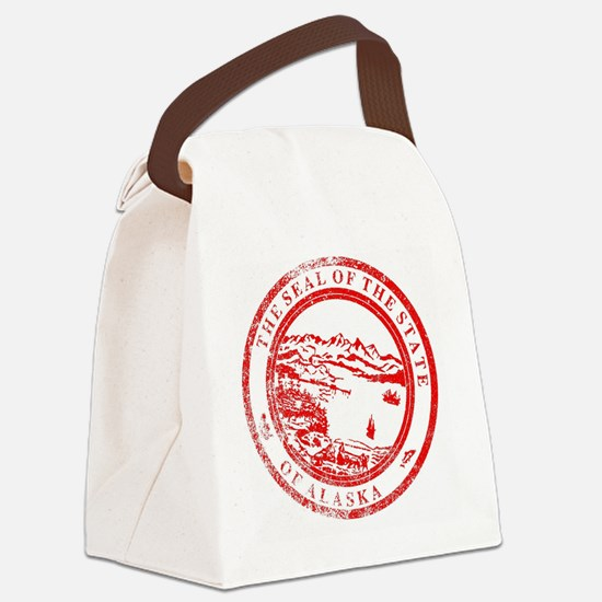 Unique Alaska state seal Canvas Lunch Bag