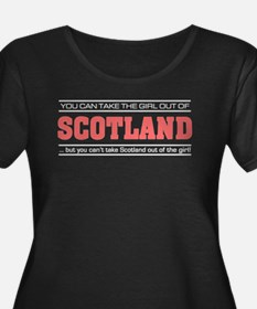 Girl out of scotland light Plus Size T-Shirt