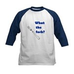 WHAT THE FORK? Kids Baseball Jersey