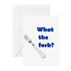 WHAT THE FORK? Greeting Cards (Pk of 20)