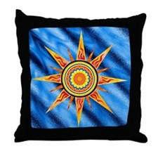 Solar Flare Symbol Throw Pillow