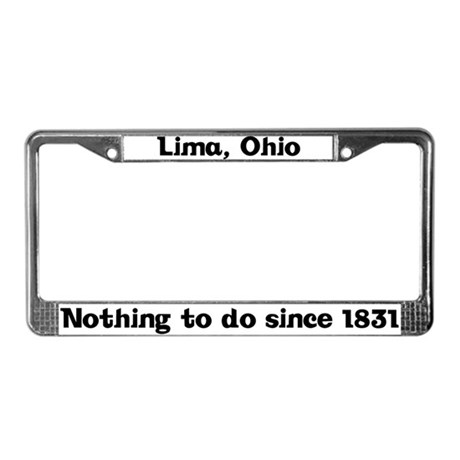 Lima, Ohio License Plate Frame