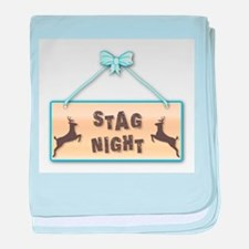 Stag Night baby blanket