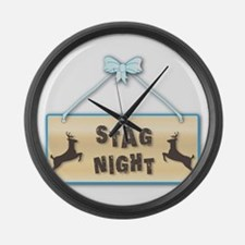 Stag Night Large Wall Clock