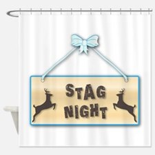 Stag Night Shower Curtain