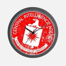 CIA Rubber Stamp Wall Clock