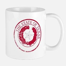Texas State Rubber Stamp Seal Mugs