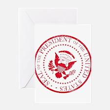 Presedent Seal Ruber Stamp Greeting Cards