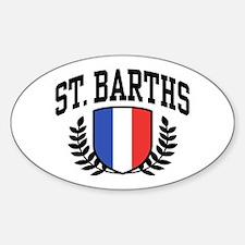 St. Barths Sticker (Oval)