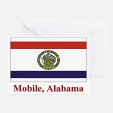 Mobile AL Flag Greeting Card